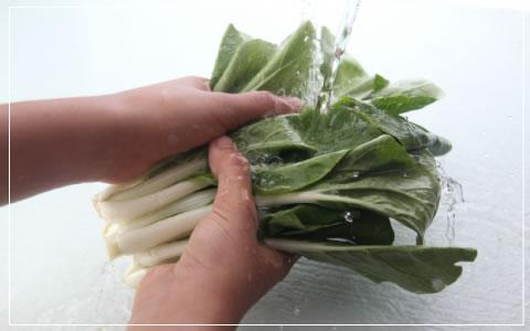 野菜や果物の洗浄
