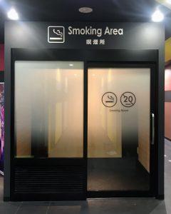 ビッグエコー各所喫煙所設置工事